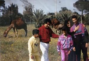 Gaddafi family photos: Colonel Muammar Gaddafi with his wife, Safiya Farkash