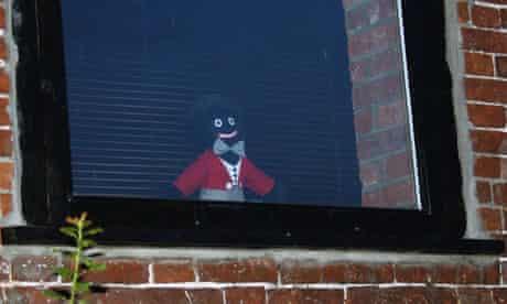 The golliwog in the window of Jena Mason's home in Worlingham, Suffolk