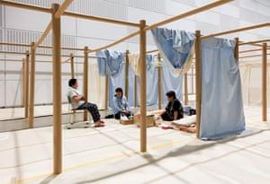Fukushima: six months on: Fukushima: Refuggee shelter