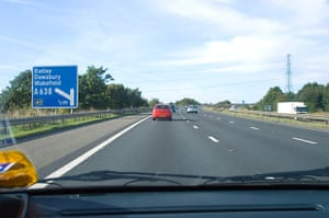 10 best: Product designs: M1 Motorway from front passenger seat