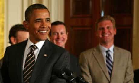 USA - Politics - President Obama Honors NASCAR Champions