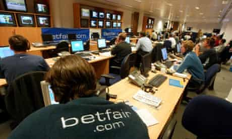 The telephone betting room at Betfair in Hammersmith