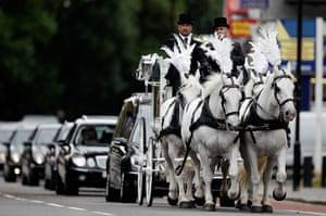 Funeral of Mark Duggan: The funeral cortege of Mark Duggan
