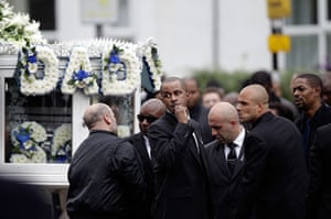 Funeral of Mark Duggan: Friends and family attend the funeral