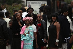 Funeral of Mark Duggan: Friends and family