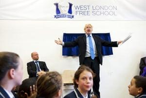 West London Free School: Boris Johnson prepares to unveil a plaque