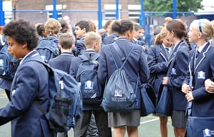 West London Free School: Students in the playground