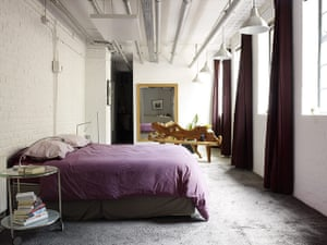 Factory living: Eric Guibert: bedroom