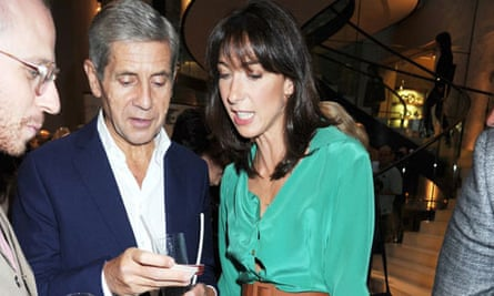 Sir Stuart Rose (left) at a party with Samantha Cameron