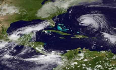 Hurricane Katia and remnants of Lee