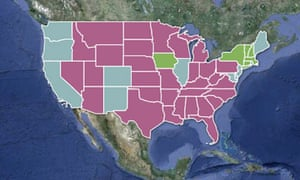 US gay marriage map