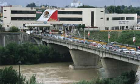 The Mexican border at Nuevo Laredo where a total of 23 bodies have been found hung from a bridge or decapitated with their heads dumped in ice boxes at city hall.