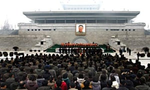 North Koreans pay tribute to late North Korean leader Kim Jong-il in Pyongyang