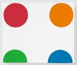 Damien Hirst at Gagosian: Damien Hirst, Complete Spot Paintings at Gagosian, Bromchlorophenol Blue