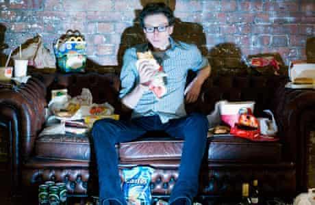 Tom Lamont tucks into a TV dinner