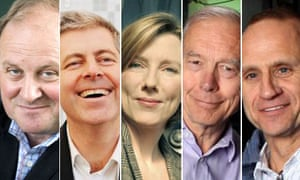 Today programme presenters, Sarah Montague, John Humphries, Justin Webb, Evan Davis, James Naughtie