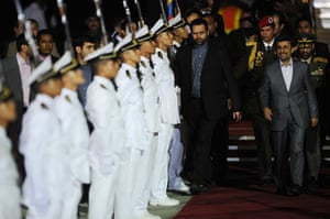 Ahmadinejad visits Chávez: Maiquetia international airport