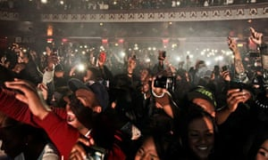 The audience at a hip hop event at HMV Hammersmith Apollo