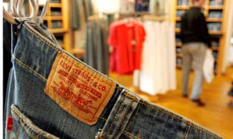 A pair of jeans on a hanger at The Original Levi's Store at Horton Plaza in downtown San Diego