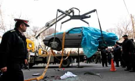 Iranian 'Nuclear Scientist' Killed in Bomb Attack, Tehran, Iran - 10 Jan 2012