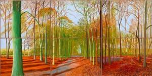 Hockney: Bigger Picture: Woldgate Woods, 2006, by David Hockney
