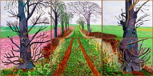 Hockney: Bigger Picture: A Closer Winter Tunnel, February - March, 2006, by David Hockney