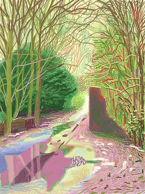 Hockney: Bigger Picture: The Arrival of Spring in Woldgate, East Yorkshire in 2011