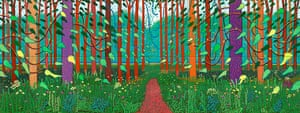 Hockney: Bigger Picture: The Arrival of Spring in Woldgate, East Yorkshire in 2011, by David Hockney