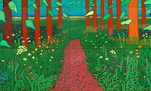 """The Arrival of Spring in Woldgate, East Yorkshire in 2011, by David Hockney"""