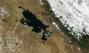 Satellite view of Lake Titicac