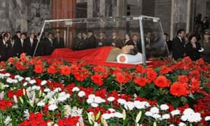 Kim Jong-il's body lies in state during the days after his death