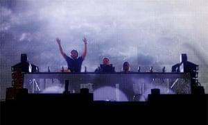 Swedish House Mafia perform