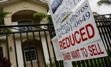 'For sale' sign outside US home