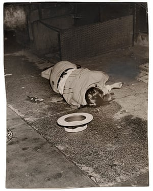 Weegee exhibition: Body of Dominick Didato, by Weegee