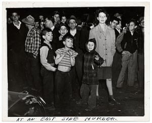 Weegee exhibition: At an East Side Murder, by Weegee