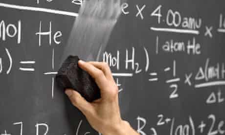 Hand erasing equations