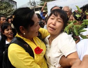 Burma prisoner released: A political prisoner released from Insein prison in Rangoon