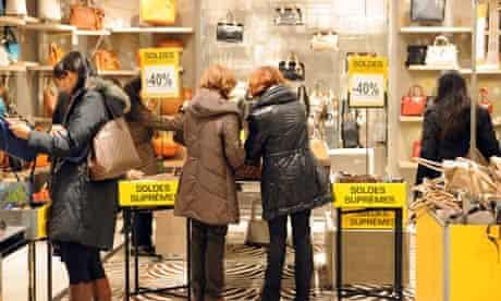 Sale shoppers in Paris