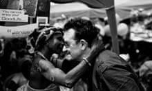 Bono meets a young villager in Kpasenkpe.
