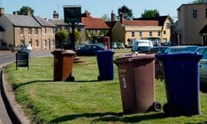 Wheelie bins in Cavendish, Suffolk