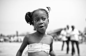 Bono visits Ghana: A young girl in a village outside Tamale