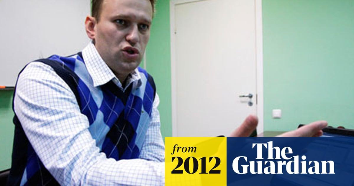 Alexei Navalny Russia S New Rebel Who Has Vladimir Putin In His Sights Alexei Navalny The Guardian