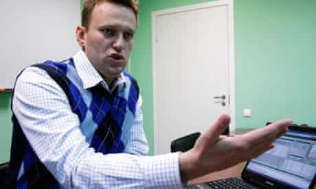 Alexei Navalny in his Moscow office