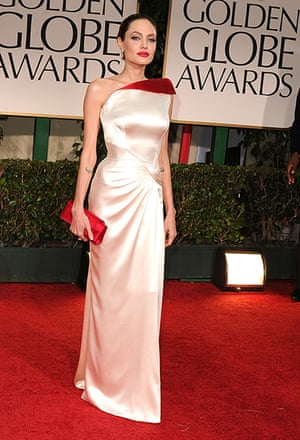 Golden Globes: Angelina Jolie arrives at the 69th Annual Golden Globe Awards