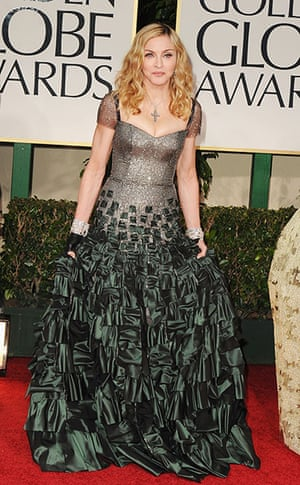 Golden Globes: Madonna arrives at the 69th Annual Golden Globe Awards