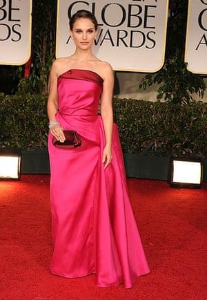 Golden Globes: Natalie Portman arrives at the 69th Annual Golden Globe Awards