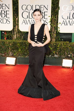 Golden Globes: Rooney Mara arrives at the 69th Annual Golden Globe Awards