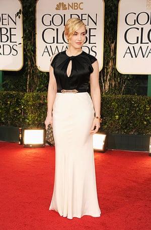 Golden Globes: Kate Winslet arrives at the 69th Annual Golden Globe Awards