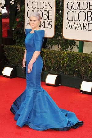 Golden Globes: Kelly Osbourne arrives at the 69th Annual Golden Globe Awards