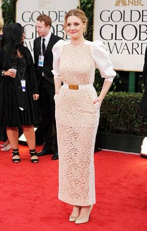 Golden Globes: Romola Garai arrives at the 69th Annual Golden Globe Awards